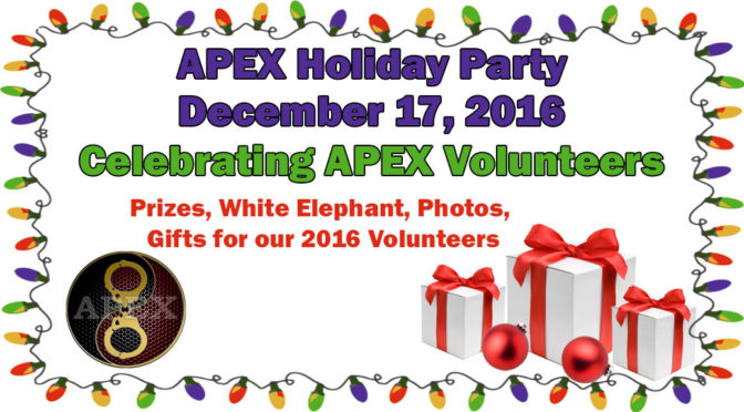Celebrate APEX Volunteers at the APEX Holiday Party!
