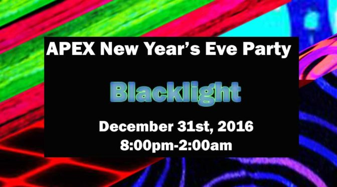 APEX New Year's Eve: Blacklight Party